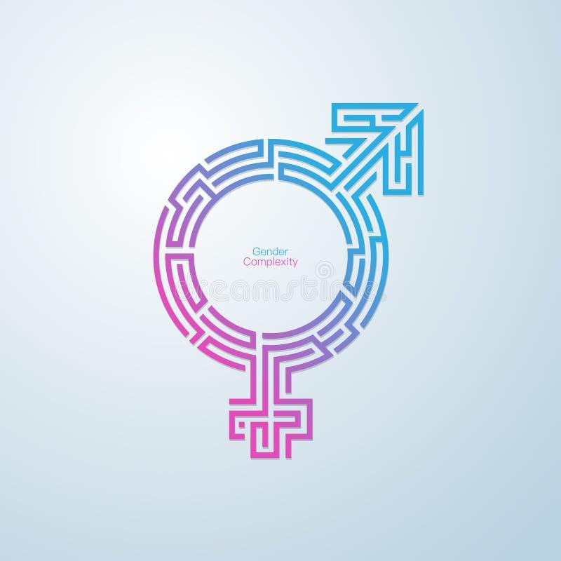 GenderMaze vektor illustrationer