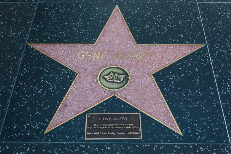 Gene Autry Hollywood Star fotos de archivo