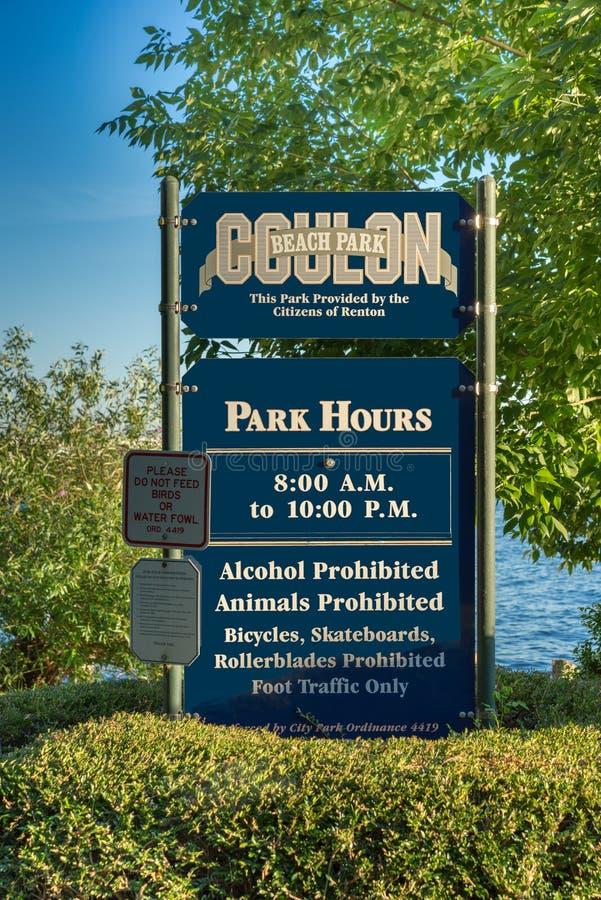 Gene Coulon Park imagem de stock