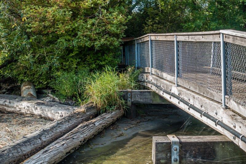 Gene Coulon Park Bridge 4 stock image