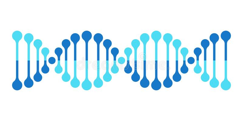 Gene da hélice da genética do cromossoma do ícone do vetor do ADN ilustração do vetor
