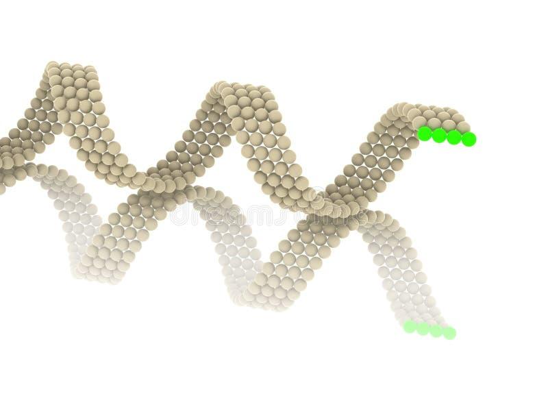 Download Gene in DNA stock illustration. Image of dimensional - 12974450
