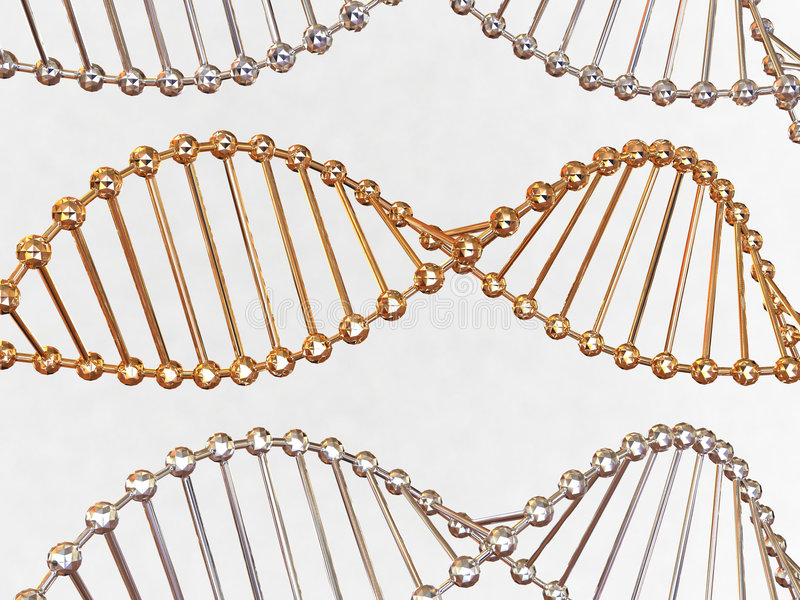 Gene in DNA stock photography