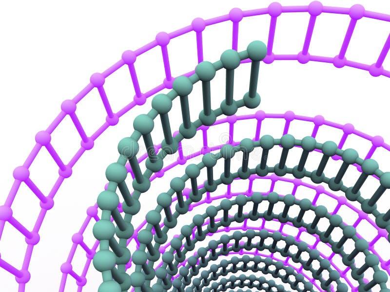 Gene en la DNA. stock de ilustración