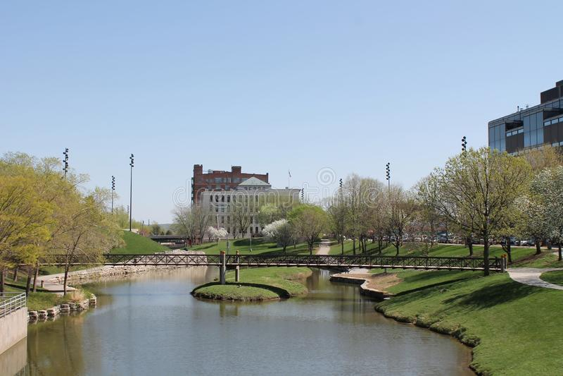 Gene Leahy Mall-Omaha Nebraska royalty free stock photo