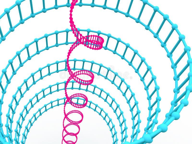 Gene no ADN. ilustração stock