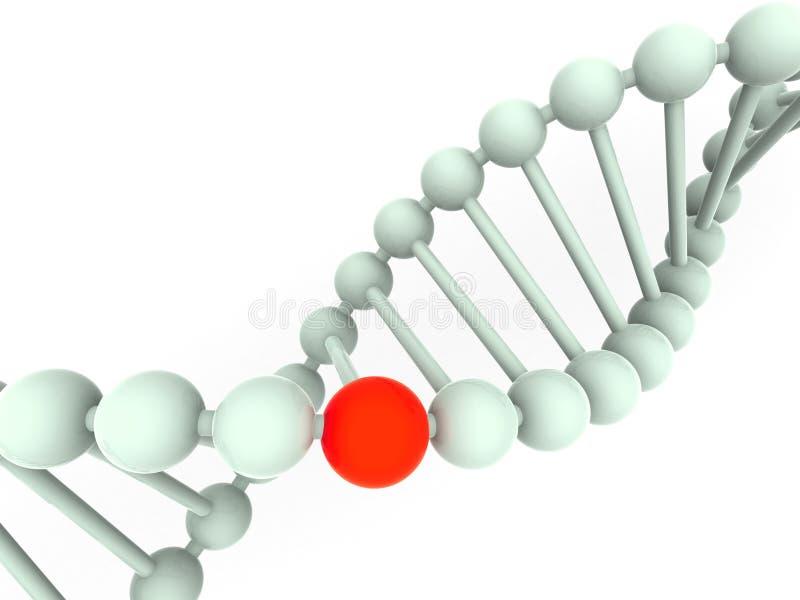 Gene no ADN ilustração stock
