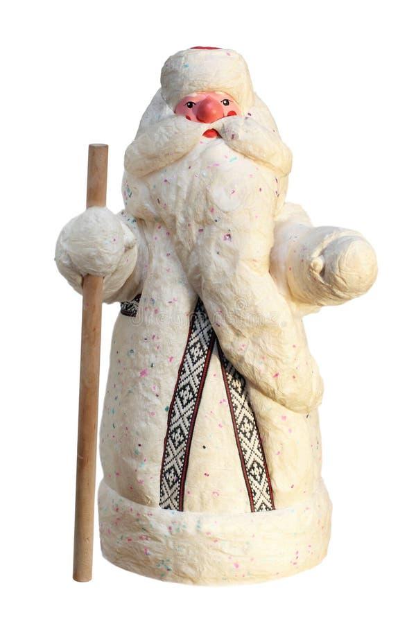 Gene o estilo do russo de Frost (Santa Claus) no branco imagens de stock