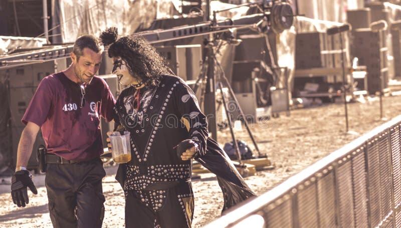 Gene Simmons cosplay en el festival de Hellfest fotografía de archivo libre de regalías