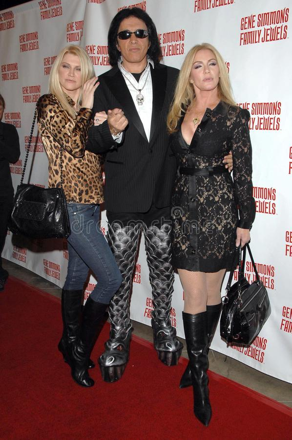 Gene Simmons, Jeffrey Ross, tweed de Shannon, tweed de Tracy fotografía de archivo
