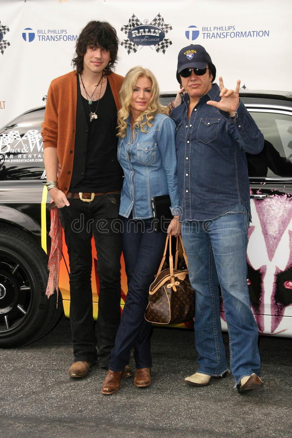 Download Gene Simmons,Nick Simmons,Shannon Tweed Editorial Stock Photo - Image: 24726568