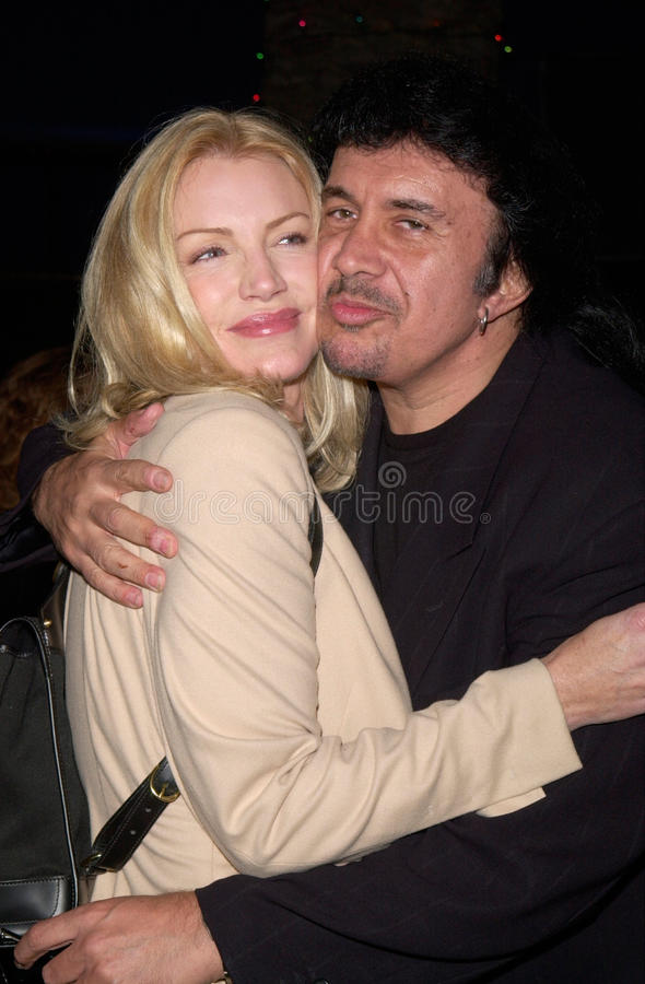 Gene Simmons, Shannon tweed obraz royalty free