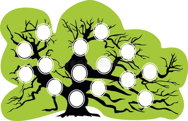Genealogisk tree också vektor för coreldrawillustration royaltyfri illustrationer