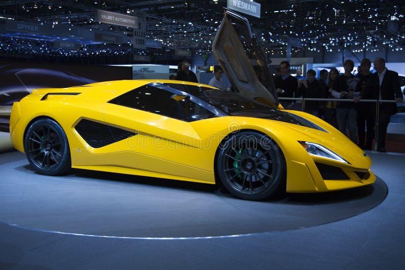 Genebra Motorshow 2009 - Frazer Nash Namir fotografia de stock royalty free