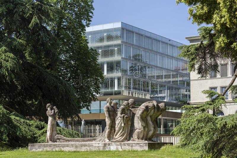 Genebra, Suíça, construção do WTO de Organização Mundial de Comércio fotos de stock