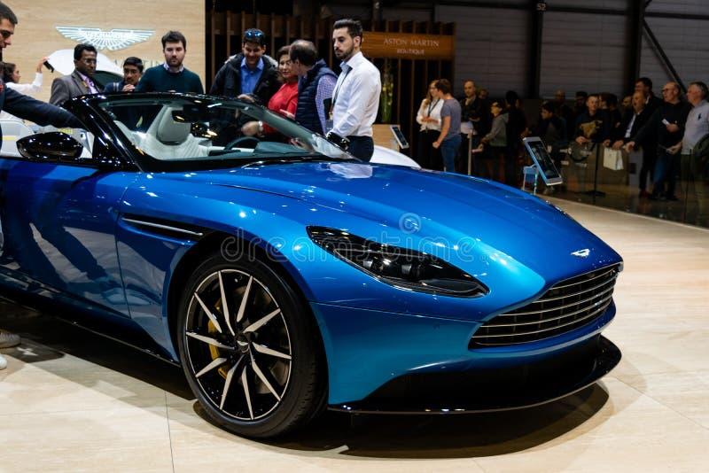 Genebra, Suíça, o 9 de março de 2019 - exposição automóvel internacional imagem de stock