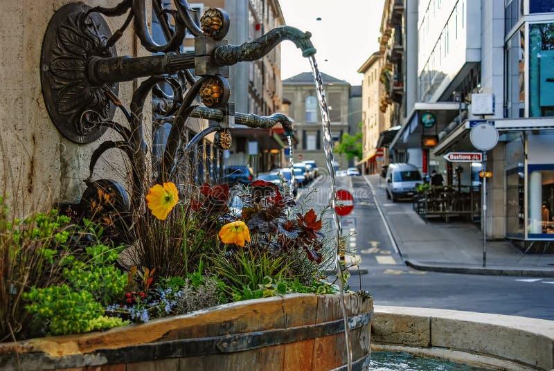 genebra switzerland Arquitetura da cidade da cidade de Genebra imagem de stock royalty free