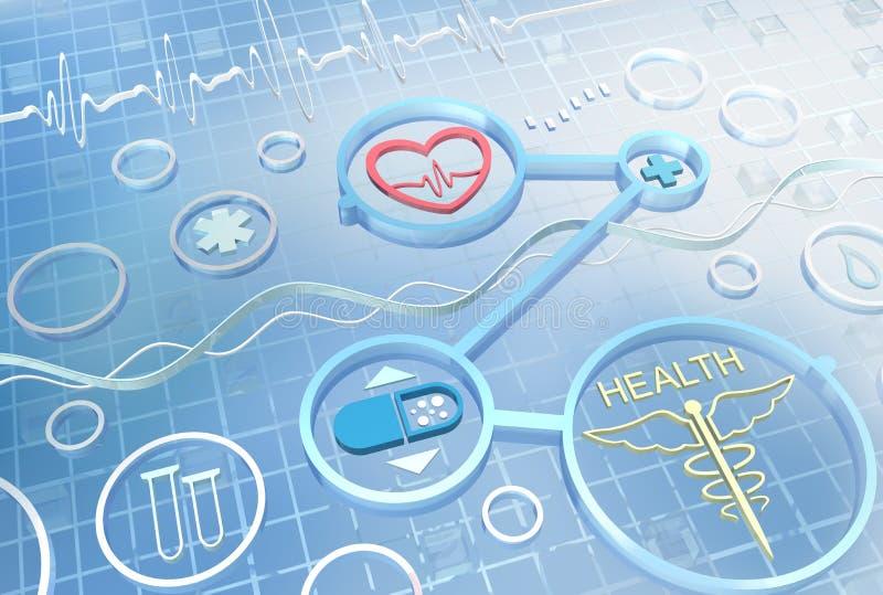 Geneeskunde - abstracte achtergrond royalty-vrije illustratie