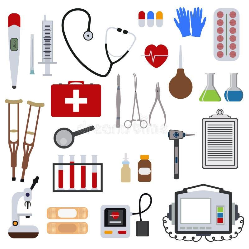 Geneeskunde en gezondheids van de de dienstverrichting van het hulpmiddelen medische ziekenhuis menselijke van de de zorgeerste h royalty-vrije stock afbeeldingen