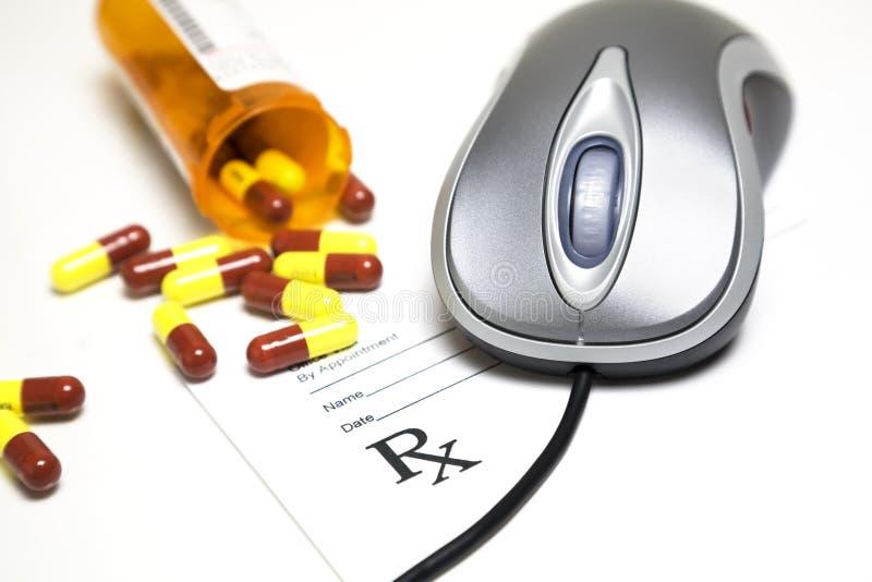 Geneeskunde online stock fotografie