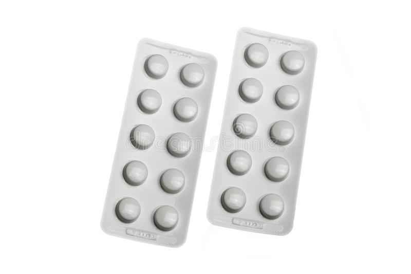 Geneeskunde verpakking stock afbeelding