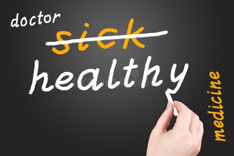 Geneeskunde. Ziekte en gezondheid vector illustratie