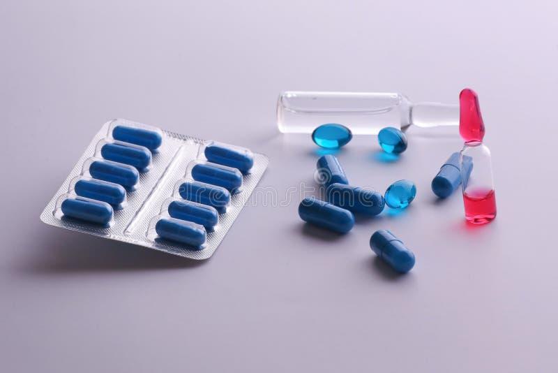Geneeskundedrugs Medische voorbereidingen, gezondheid stock afbeelding