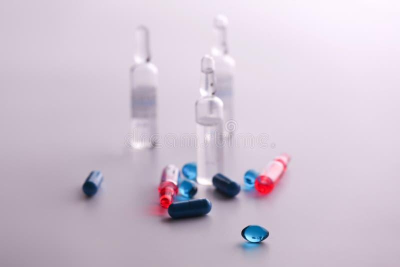 Geneeskundedrugs Medische voorbereidingen voor gezondheid royalty-vrije stock foto's