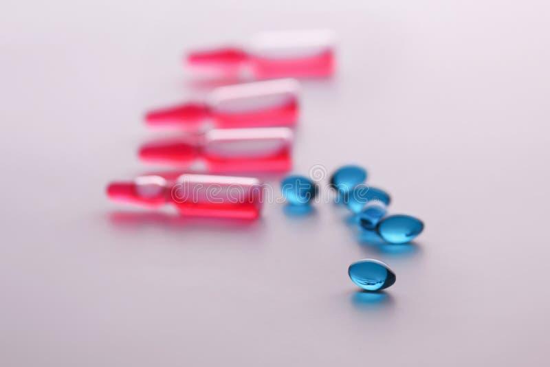 Geneeskundedrugs Medische voorbereidingen voor gezondheid stock foto