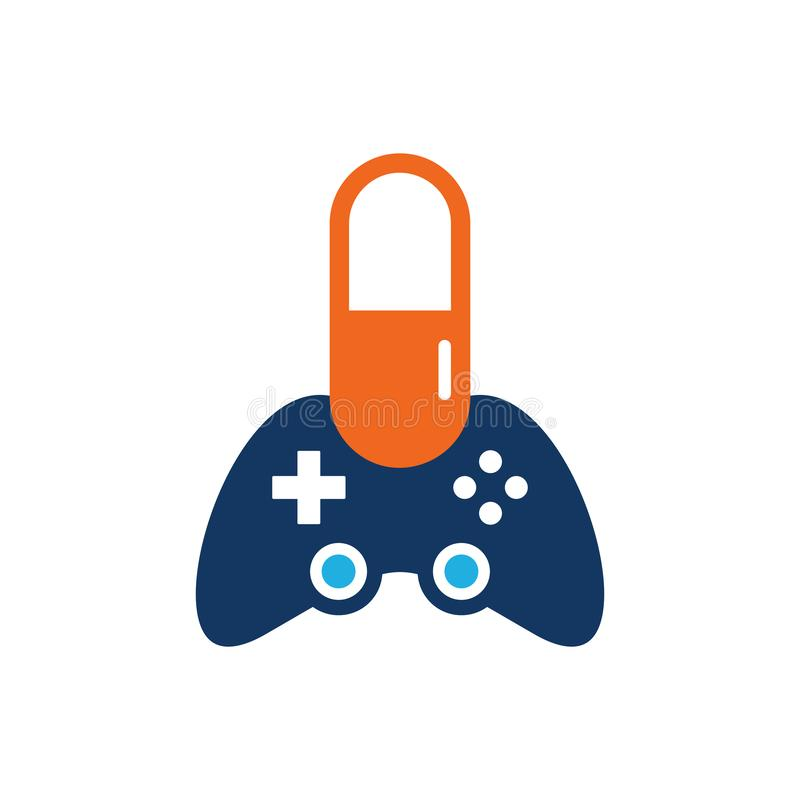 Geneeskundespel Logo Icon Design stock illustratie