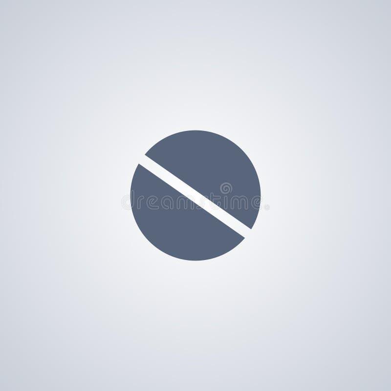 Geneesmiddel, tablet, vector beste vlak pictogram royalty-vrije illustratie