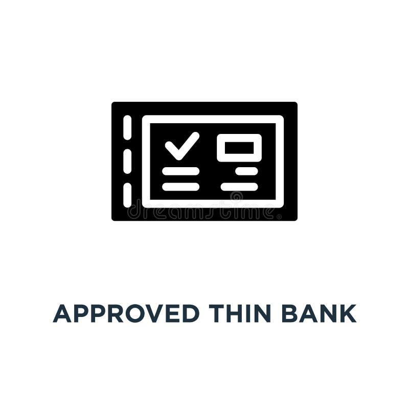 genehmigte dünne Bankscheck-Buchikone, Symbol des Dollargehalts vom Konzept des Arbeitgebers oder der Lohnliste und des Ausgleich lizenzfreie abbildung