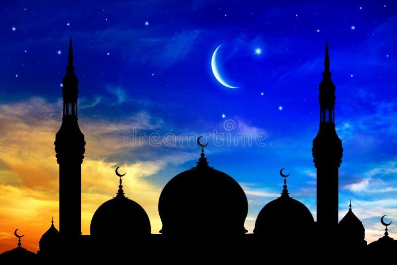 Gener?s Ramadan ny moon vektor illustrationer