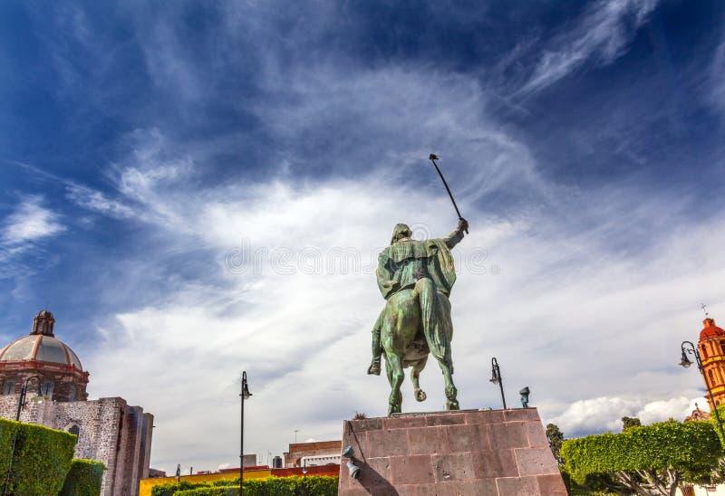 Generał Allende Statua San Miguel de Allende Meksyk fotografia stock