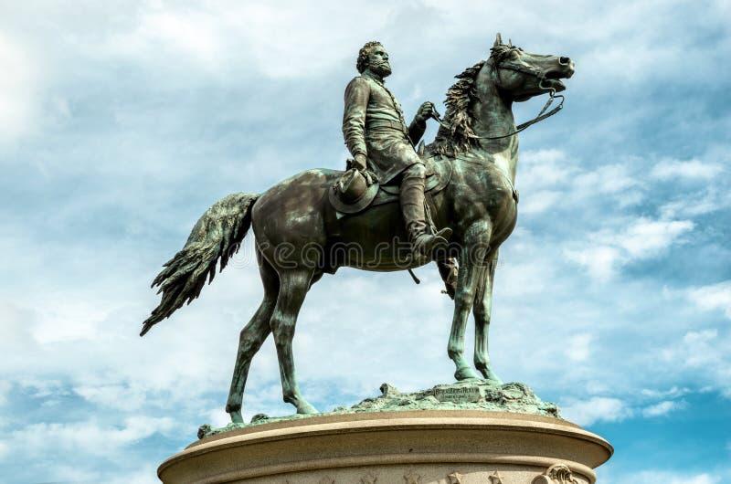 Generał Dywizji George Henry Thomas, jest equestrian rzeźbą w Waszyngton, d C obraz stock