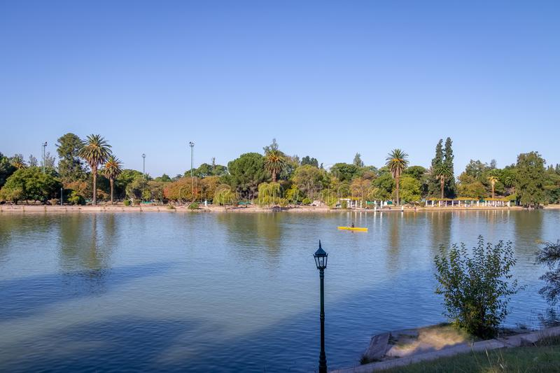 Generał San Martin Parkujący Jezioro, Mendoza -, Argentyna fotografia royalty free