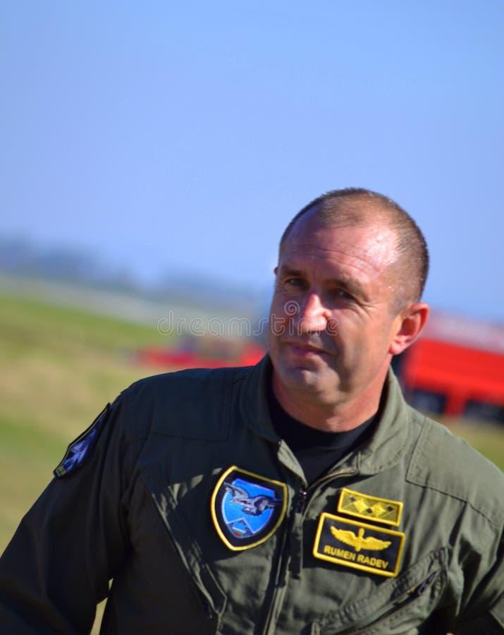 Generała Dywizji Rumen Radev obrazy stock