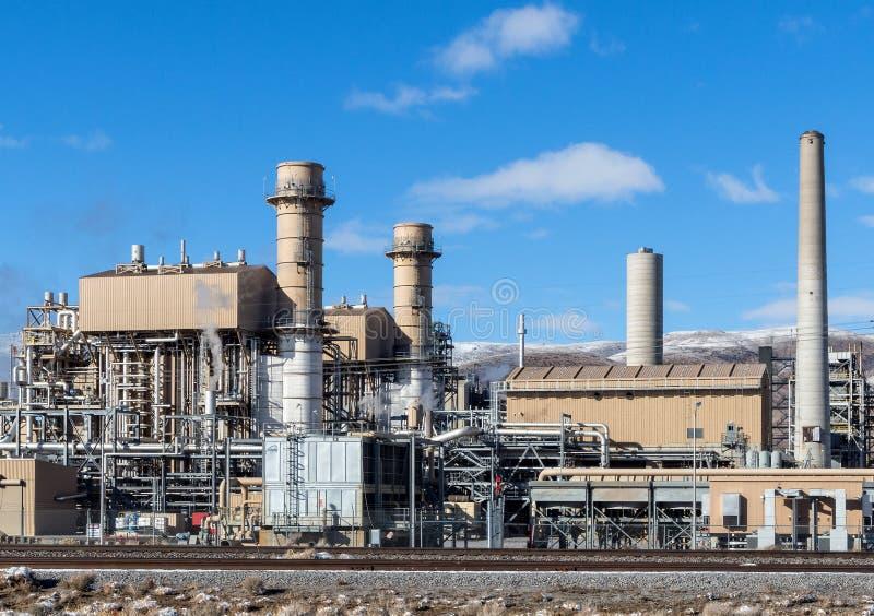 Generación de electricidad del gas natural imagen de archivo libre de regalías