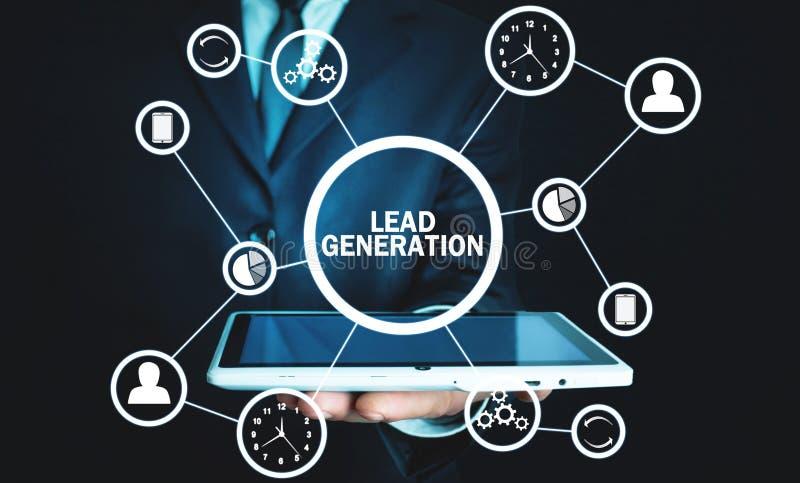 generación de la ventaja Concepto de negocio, red, tecnología, futuro foto de archivo libre de regalías