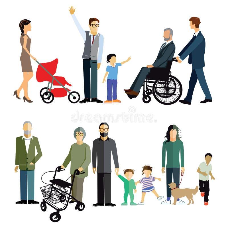 Generaciones múltiples de familia libre illustration