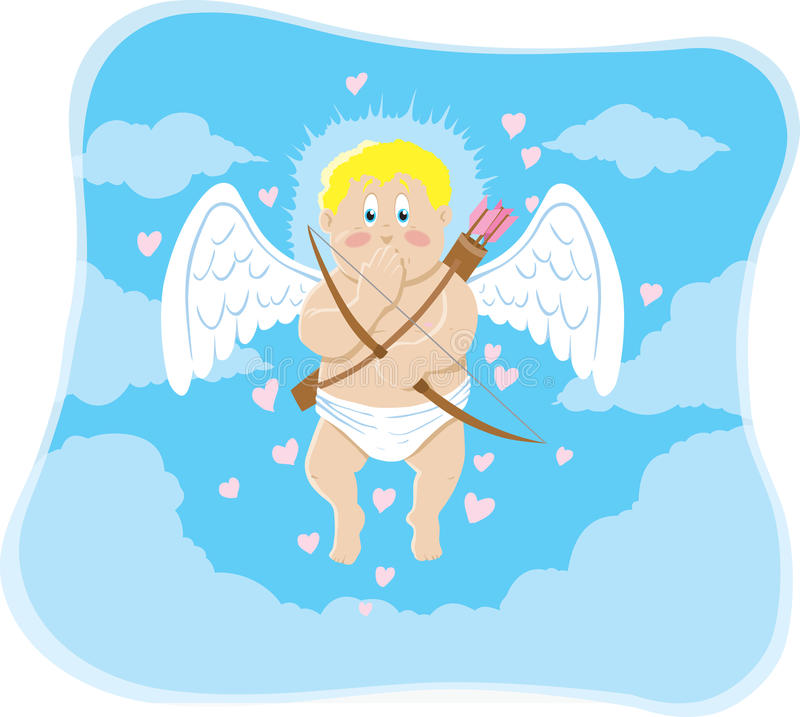 generad cupid royaltyfri illustrationer