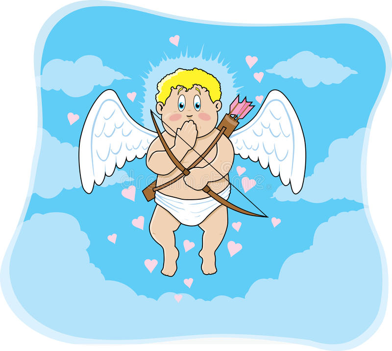 generad cupid vektor illustrationer