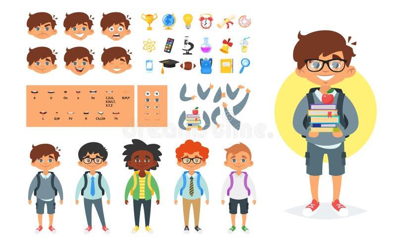 Generador de carácter del escolar libre illustration