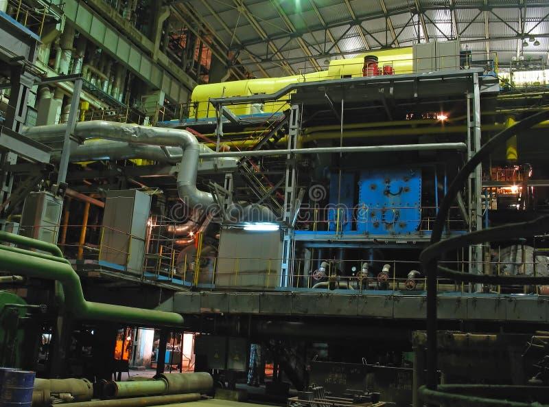 Generador de la energía eléctrica, escena de la noche fotografía de archivo libre de regalías