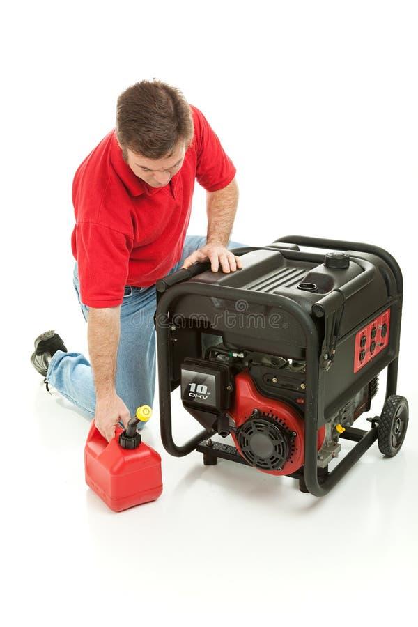 Generador de motor con gasolina foto de archivo libre de regalías