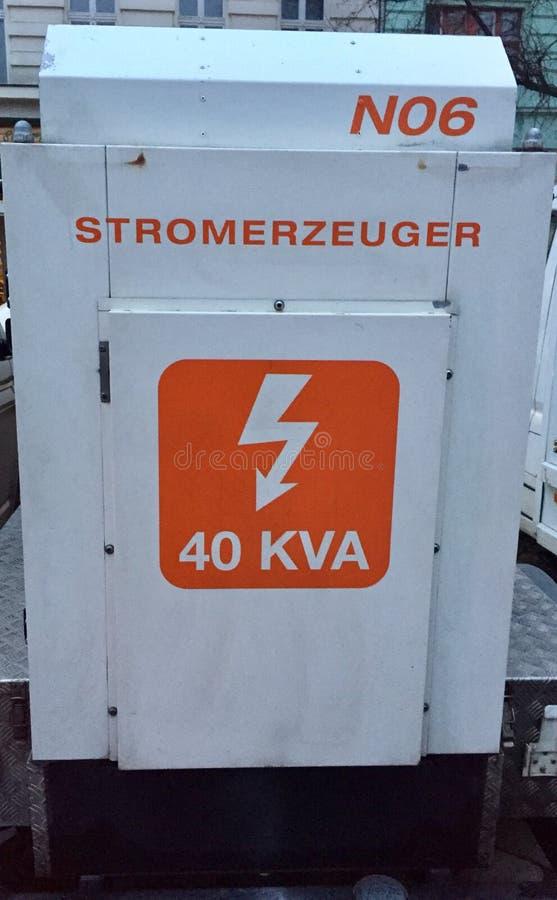 generador de poder de 40 kilovoltio-amperios foto de archivo