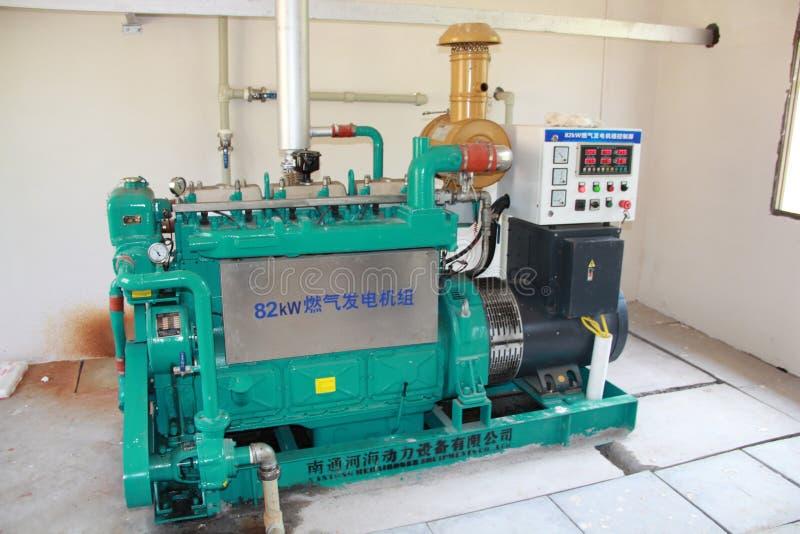 Generador del biogás fotografía de archivo