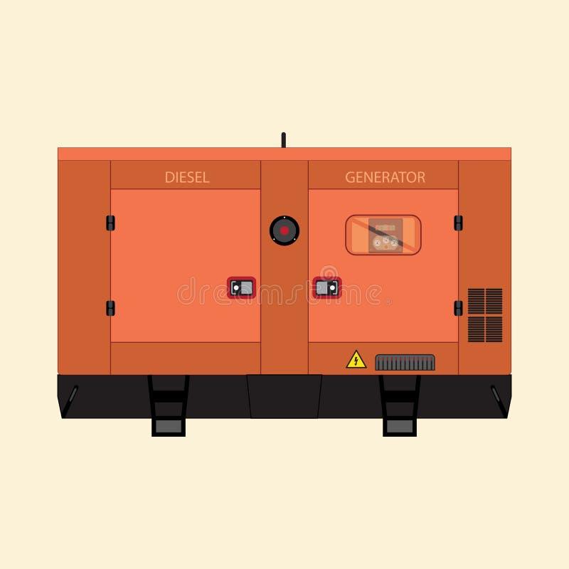 Generador diesel industrial libre illustration