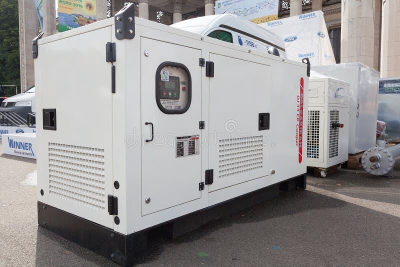 Generador diesel móvil para la energía eléctrica de la emergencia imagen de archivo