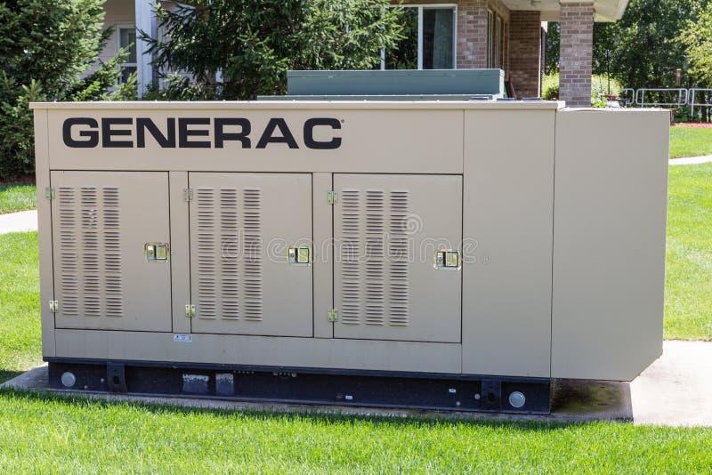 Generador eléctrico espera comercial imagen de archivo